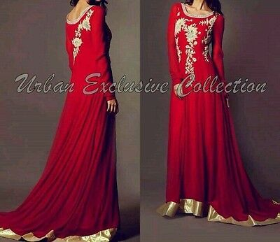 Bollywood Indian Pakistani Embroidered Abaya Gown