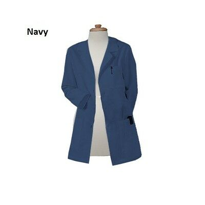 Free Personalization Gesture Made Women 32 Inch Multiple Pocket Colored Lab Coat