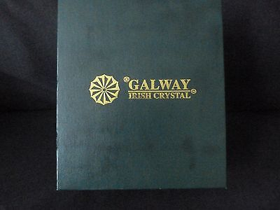 Galway Irish Cut Crystal Wines(two) Glasses etched Amtico golf tournament 1991