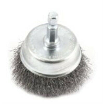 Forney 72730 Wire Cup Brush, Fine Crimped with 1/4-Inch Hex Shank, 2-Inch-by-.00