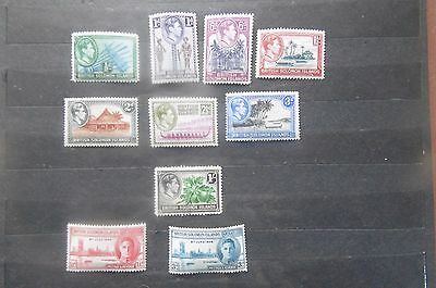 Solomon Islands 1938 part  to 1/- set MH 1/- used