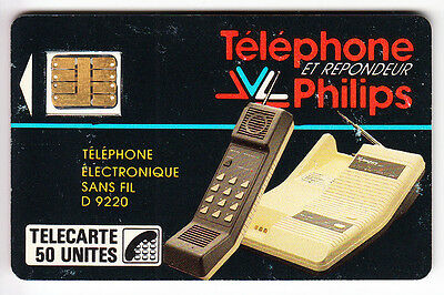 France  Telecarte / Phonecard .. 50U  F11 Telephone Philips 1987 Ut/be C.1600€