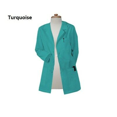 Free Customization Gesture Made Unisex 32 Inch Fashionable Colored Lab Coat