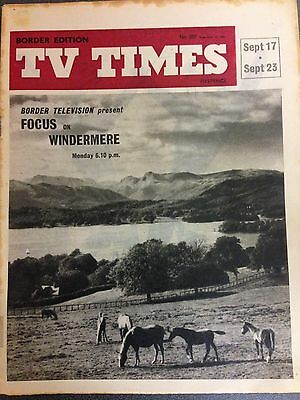 TV TIMES 1961- Focus On Windermere- (BORDER TV's Office Copy)
