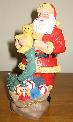 Brinnco SANTA CLAUS Figurine FILLING STOCKINGS WITH CARE