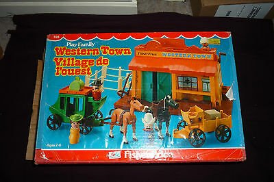 Vintage 1982 Fisher Price #934 Little People Western Town MINT COMPLETE W/BOX