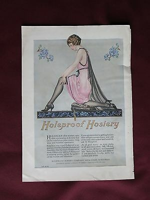 1923 HOLEPROOF HOSIERY ORIGINAL VINTAGE AD by COLES PHILLIPS