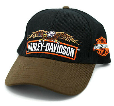 HAT - Harley-Davidson Embroidered Eagle Logo Ball Cap FREE SHIPPING