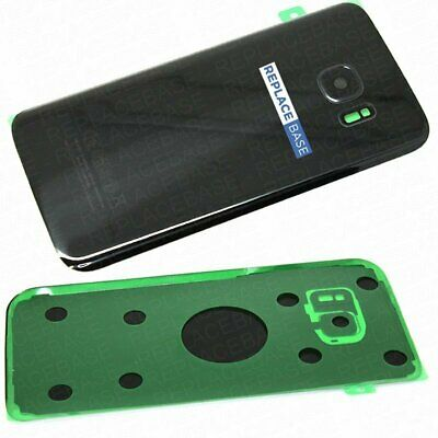 For Galaxy S7 Replacement Glass Battery Rear Panel Cover Black Camera Lens Glue