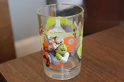 "Dreamworks McDonalds Glass Cup Shrek the Third  Donkey 5"" tall"