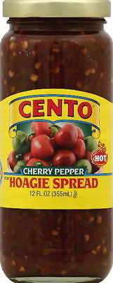 Cento Diced Hot Cherry Pepper (Hot) Hoagie Spread - Pack of 2