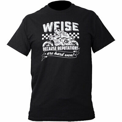 Weise Reputations T-Shirt Motorcycle Casual Wear - Black