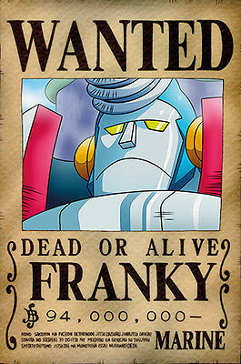 One Piece WANTED Poster (26 x 40 cm) - FRANKY – Last Bounty!