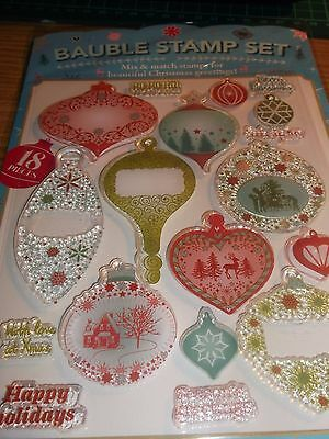 Card making & crafts   Christmas  Bauble clear stamp set
