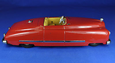 Blechauto / Tin Toy: JNF Favorit Cabriolet, rot / red, Made in U.S. Zone Germany