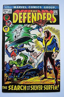 THE DEFENDERS #2 Marvel Comics, our grade 8.0-8.5 Silver Surfer appearance