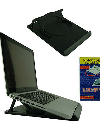 NOTEBOOK BASE HOLDER Size: A4.B5 Rotate in 360° SUPPORTO COMPUTER PC PORTATILE