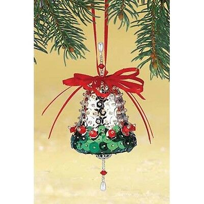 Kit makes 2 Silver Bells Ornaments Christmas Tree  Craft sequins pins