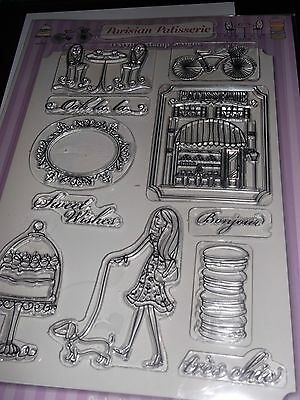 Card ,making & crafts parisian patisserie clear stamps new
