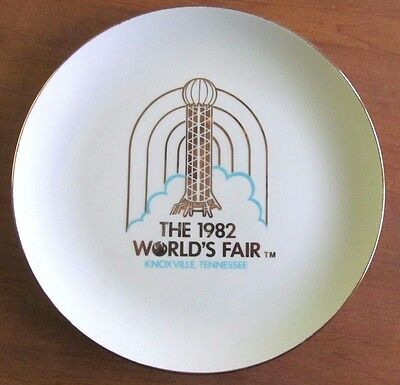 """1982 Souvenir 10"""" Plate From The Knoxville, Tennessee World's Fair"""