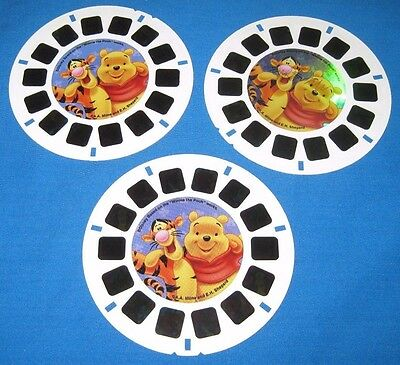 "3-D VIEW-MASTER 3 Reel Set~""Pooh's High Flying Adventure""~Disney & Fisher Price"