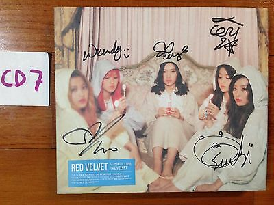 Red Velvet autographed The Velvet PROMO CD signed 2nd Mini Album Photocard