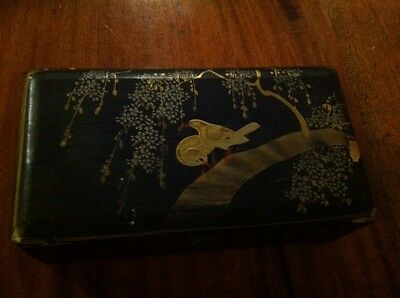 Lovely Antique Japanese Lacquer (Tansu)? Jewelry Box Meiji Period?