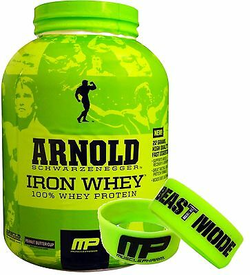 ARNOLD SERIES IRON WHEY PROTEIN MP MUSCLEPHARM 5LBS (2.27kg) + Wristband