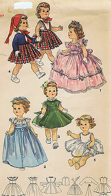 """1371 Vintage Chubby Doll Pattern - Size 17"""" - Year 1955"""