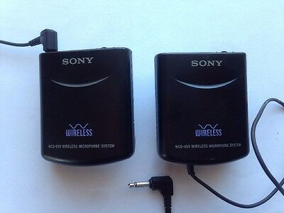 Sony WCS-999 Wireless Microphone  Transmitter and Receiver Pair