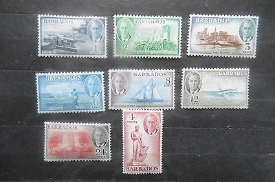 Barbados 1950 part set to 24 cents MH