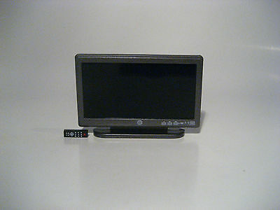 Dollhouse Miniature Furniture Tv With Remote Control New 1:12