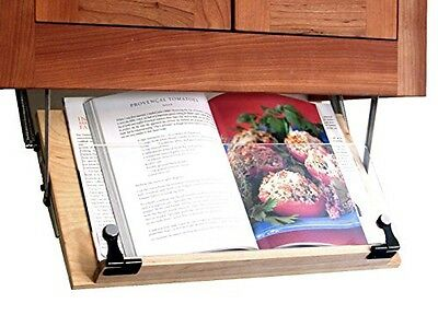 Clear Solutions Under Cabinet Mounted Cookbook Holder - Wood - Made in the USA