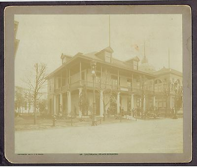 1893 Columbian Exposition C D Arnold Louisiana State Building Large Photograph