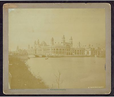 1893 Columbian Exposition C D Arnold Electricity Building Large Photograph A438