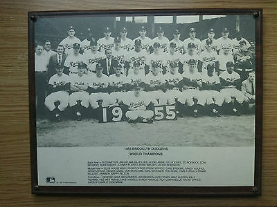 Extremely Rare Vintage 1955 Brooklyn Dodgers World Champions Poster 1990 reissue