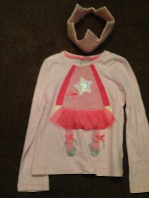Girls Pink Fairy Next Top Christmas With Crown Age 4-5