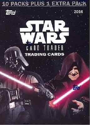 2016 Topps Star Wars Card Trader HUGE Factory Sealed 11 Pack Blaster Box NEW