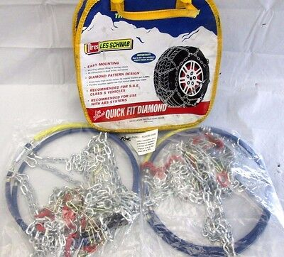Les Schwab Snow Chains Quick Fit Diamond Tire Chains Class S  for SAE  Unused