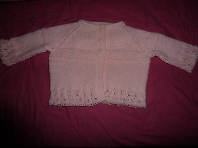 Babies Hand-made Knitted Pink Cardigan