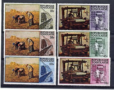 Togo (9462) 1968 Paintings and Local Industries set Unmounted mint Sg577-82
