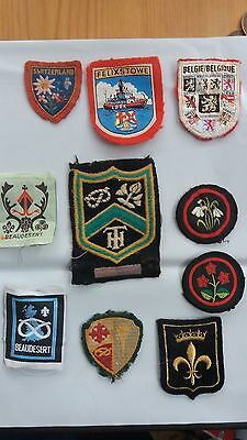 Vintage Lot Of Girl Guides Cloth Patches
