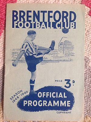 Brentford v Leicester City 1948/49
