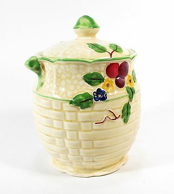 """Crown Devon Preserve Pot with Lid,4½"""" tall  - Clean and Good"""
