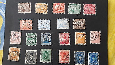 21 Timbres anciens d'Egypte