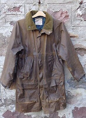 """MEN'S VINTAGE WAX JACKET BY BEAVER OF BOLTON size 42"""""""