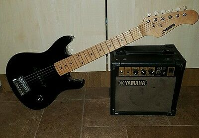 childs acoustic solutions electric guitar and yamaha amplifier