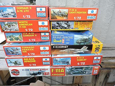MEGA DEAL # 11-12 CONSISTS OF 12 X ASSORTED 1:72nd SCALE AIRCRAFT AS SHOWN