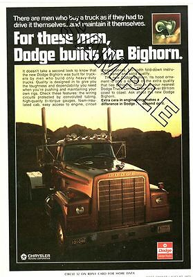 New DODGE BIGHORN TRUCK 1973  Color Photo Ad, EXCELLENT CONDITION !