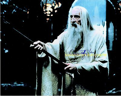 Christopher Lee Saruman The White Lord Of The Rings   Autograph UACC RD 96